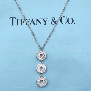 Auth Tiffany & Co Triple Circle Pendant Necklace